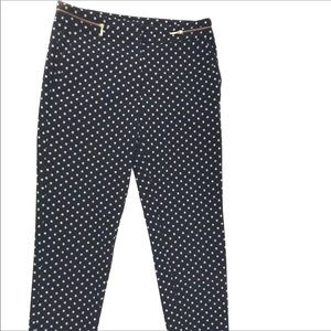 H & M BLACK GEOMETRIC PRINT DRESS PANTS W/POCKETS